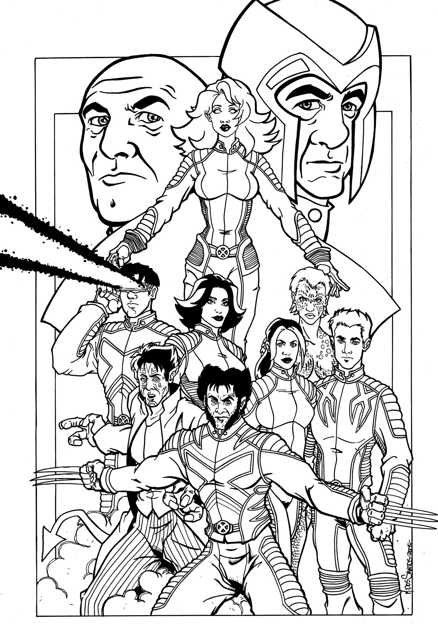 It is a photo of Comprehensive Xmen Coloring Pages