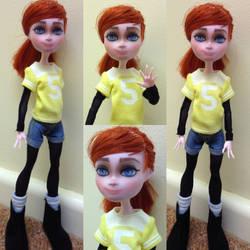 April O'Neil TMNT 2012 ooak doll by Sonkisonki