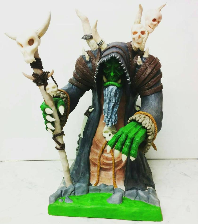 Gul'dan sculpture by creaturecreationUK