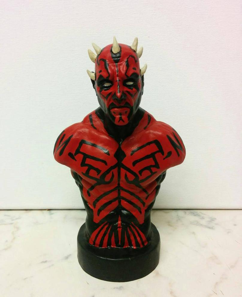 Darth Maul sculpture by creaturecreationUK