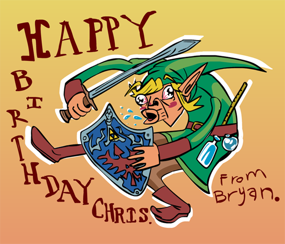 Zelda Birthday Card 1 By Beefsoupplease On Deviantart