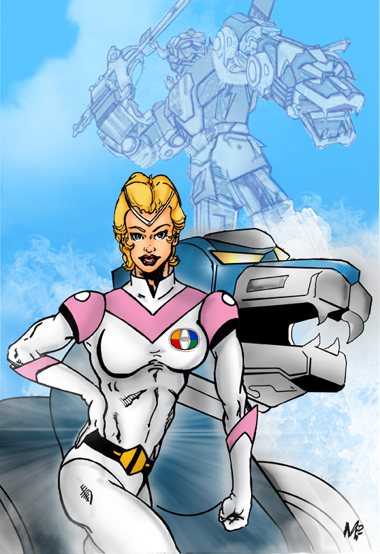 Princess Allura and Voltron by mmunshaw