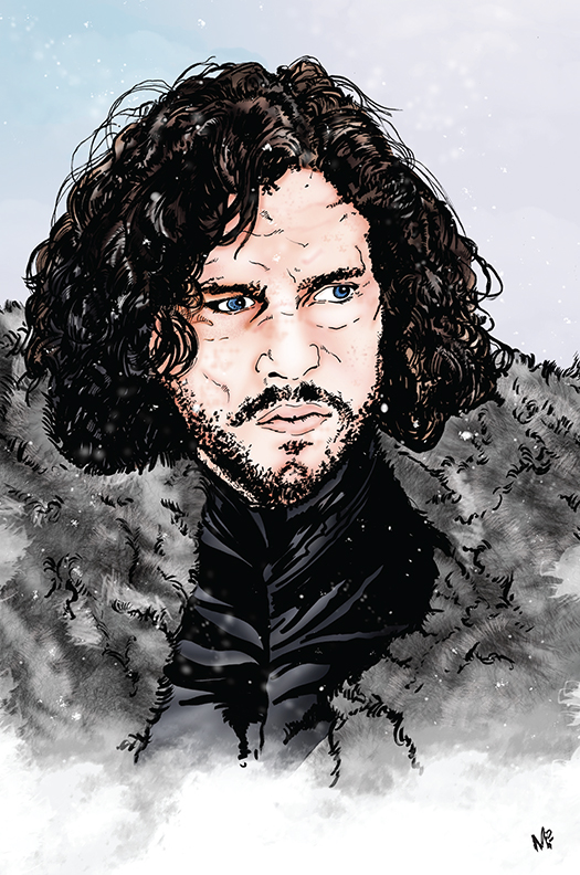 Game of Thrones Jon Snow by mmunshaw