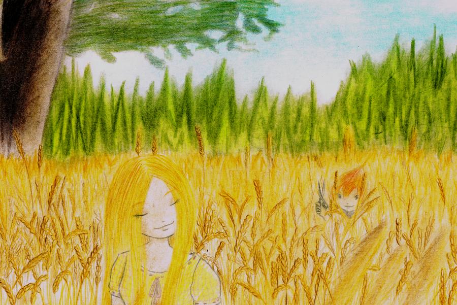 cornfield by lokitsune