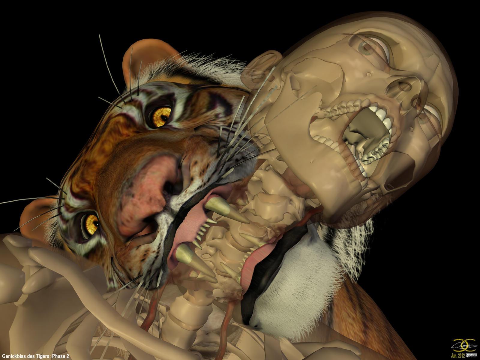 Neck bite of a Tiger: Phase 2 by ancestorsrelic