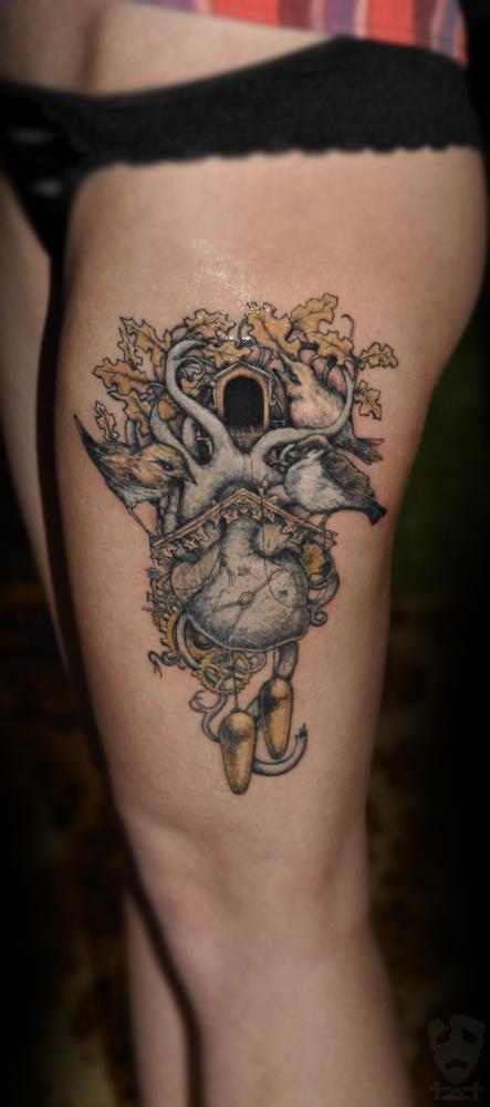 clock heart tattoo by tvia dark on deviantart