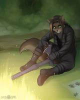Exoticwolf commission (August 2013) by A-BlueDeer
