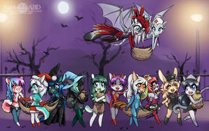 And the halloween loot! by A-BlueDeer