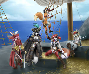 Pirate Depicting pirates, not a pirated picture co by A-BlueDeer