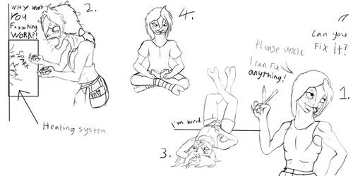 Sil being Sil (Sketches)