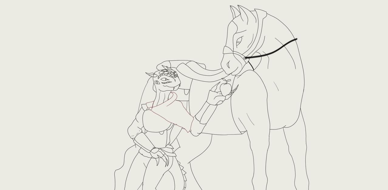 Neaola and her pal Swift-Kicker by predman1227