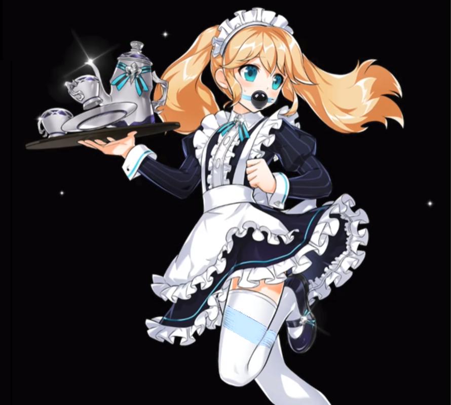 Chung Crossdress maid tied up by xazinator39
