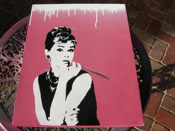 Audrey Hepburn Pink by 23rdkey on DeviantArt