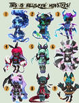 Halloween MONSTERS Gaia Adopts: ALL SOLD/CLOSED