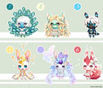 OTA Gaia Adopts: GAIAMONS, 6/6 open! by fickle-adopts