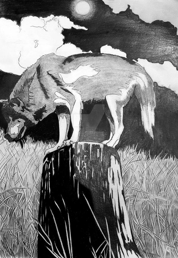 Wolf Drawing by JesseVanSciver
