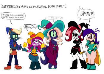 At professor cyruds's class reunion, school days! by MegaJvictor123
