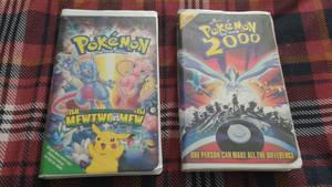 Pokemon the movie and Pokemon 2000 vhs