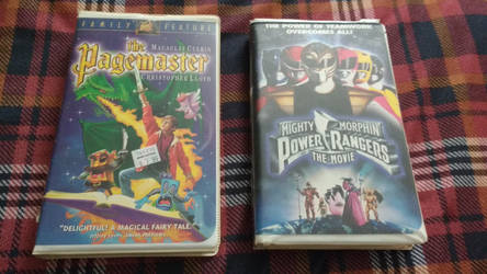 Pagemaster and Mighty Morphin vhs