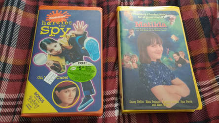 Harriet the spy and Matilda vhs