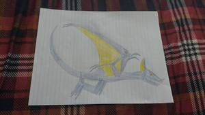 Flying Yellow-eyed Blue Bat