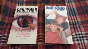 Candyman and Dumb and Dumber vhs