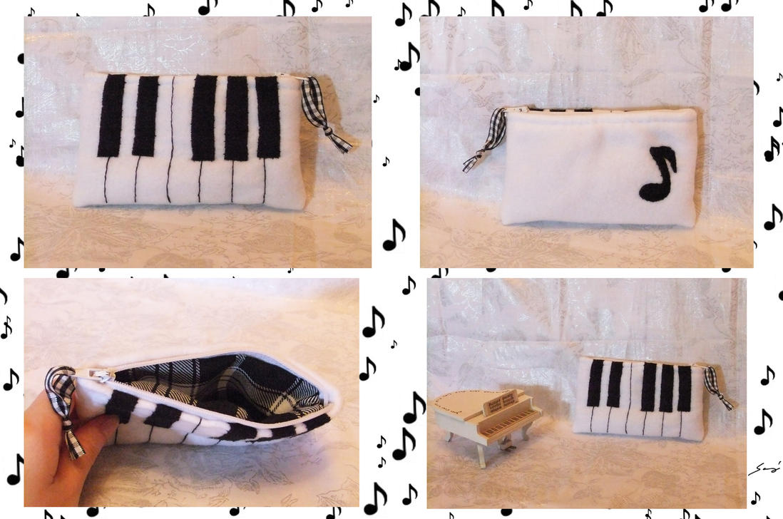 Soft PIANO pouch by BlueDove415