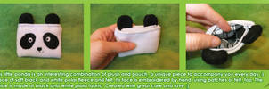 Cute Soft Panda Pouch by BlueDove415