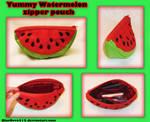 My new Watermelon zipper pouch