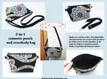 2-in-1 cosmetic pouch and crossbody bag by BlueDove415