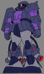 MS-06R-1A High Mobilty Zaku (Black Tri Stars)