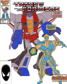 Transformers Issue #9 cover parody