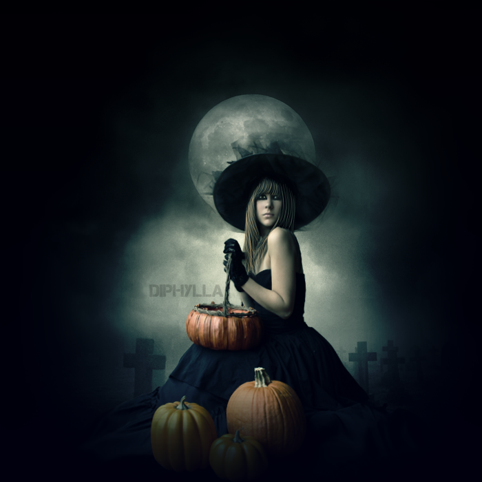 Pumpkin Witch by diphylla
