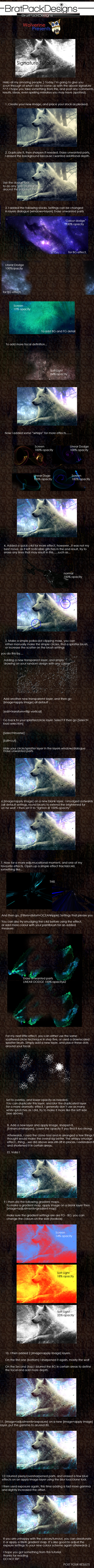 Wolf signature tutorial by Wolvyqueen