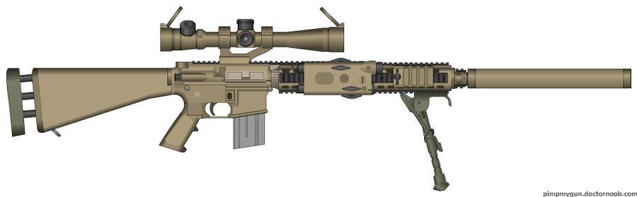 M110 SASS V3 by Yustax on DeviantArt M110 Sniper Rifle Suppressed
