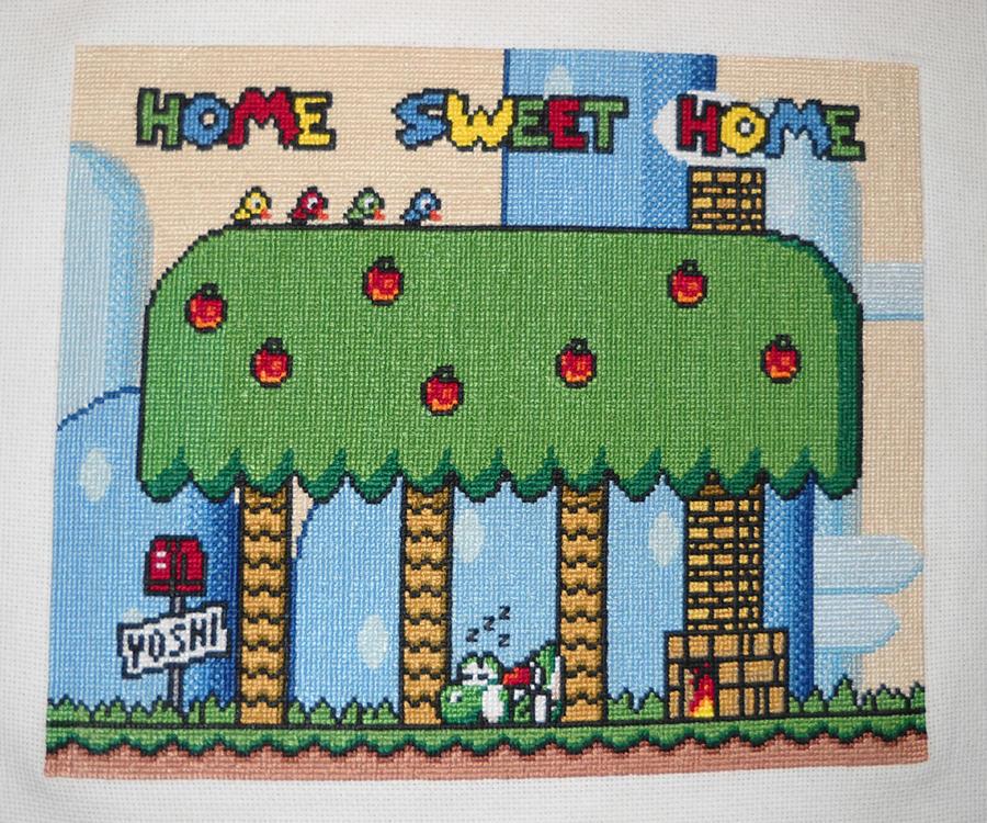 Yoshi Cross Stitch by Rosaka