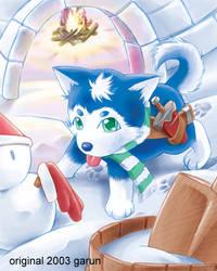 snow dog by garun