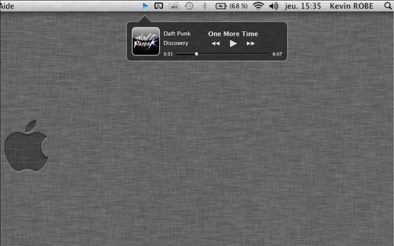 iTunes mini player OS X app