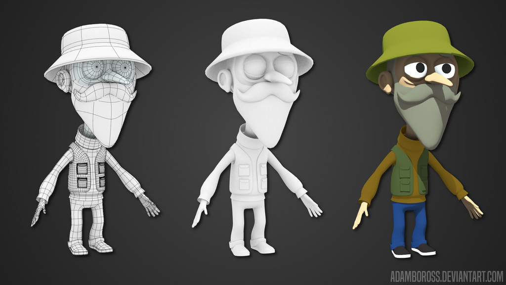Fisherman character model by adamboross