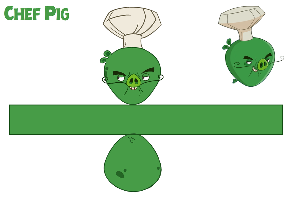 Chef pig toons template by bluejay5678 on deviantart for Angry bird pig template
