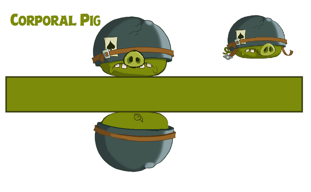 Corporal pig toons template by bluejay5678 on deviantart for Angry bird pig template