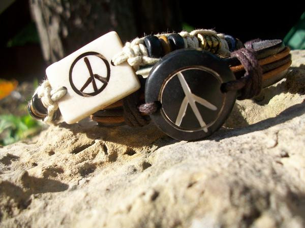 Peace Braclets. by KristineAdelia