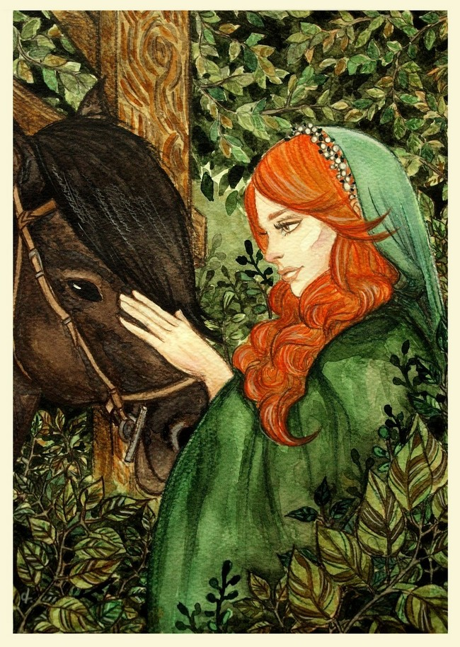 Hurrem and her horse by UnPredictableGirl