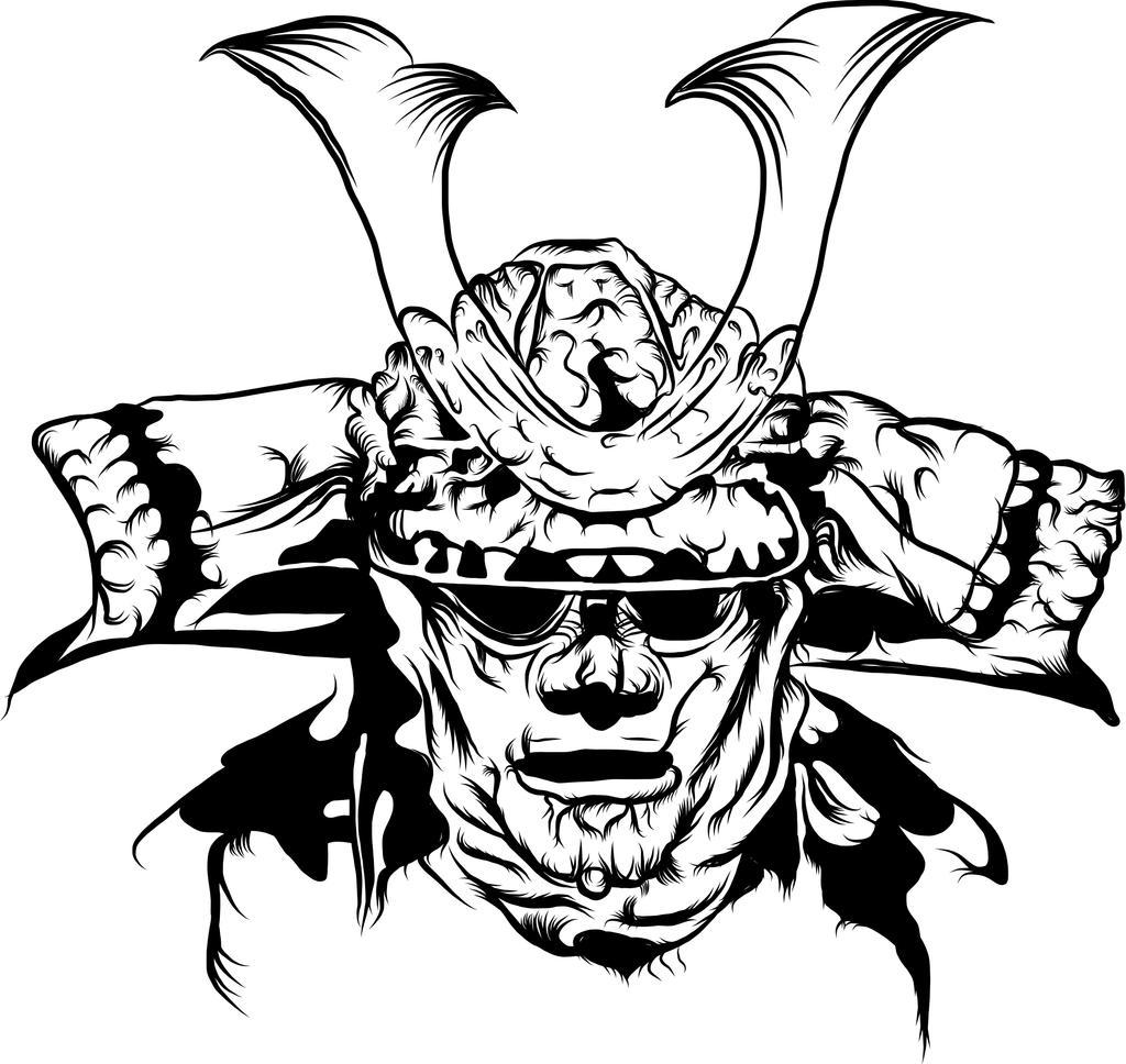 samurai mask by 9fitp on deviantart. Black Bedroom Furniture Sets. Home Design Ideas