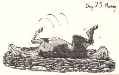 Inktober day 23: Muddy