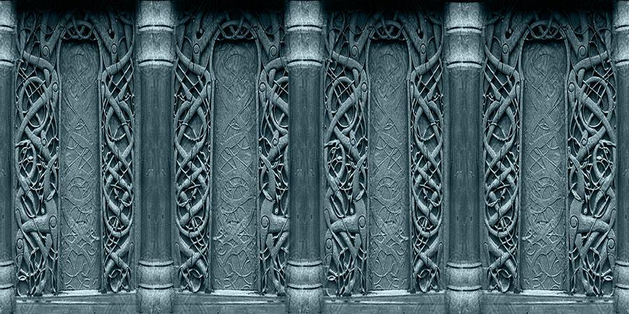 Viking walls 2 by raphaellanightfire on deviantart for Gothic net curtains