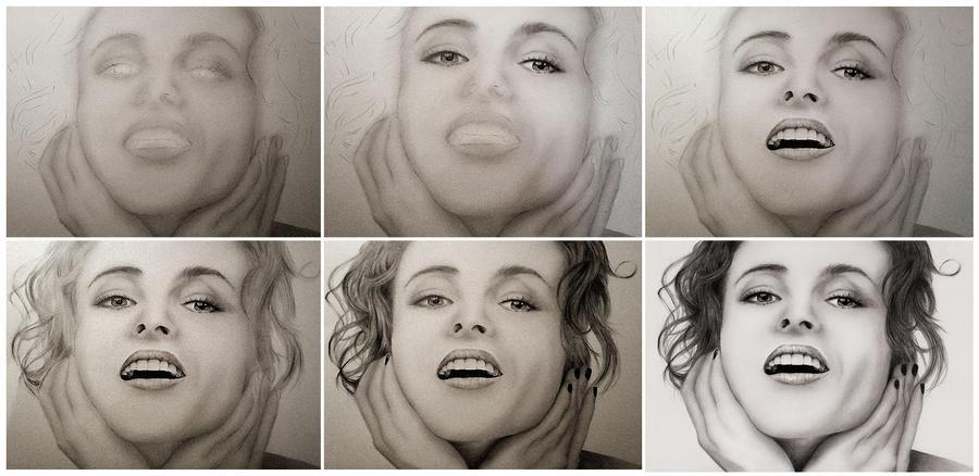 Helena Bonham Carter - WIP by Touya-shi