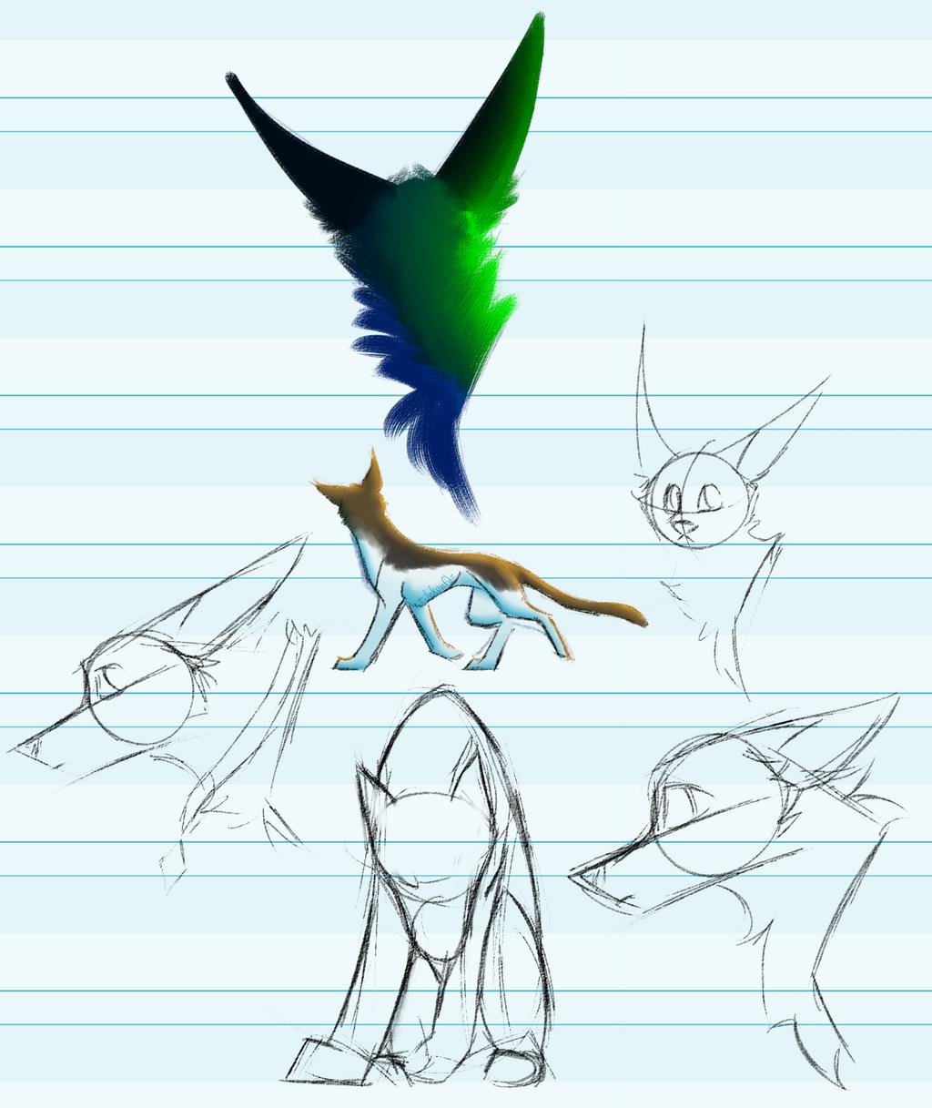 Undated sketches by tilukonfdz