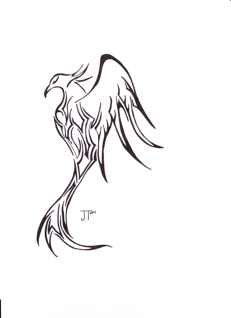 Simple Phoenix Drawings | www.imgkid.com - The Image Kid ...