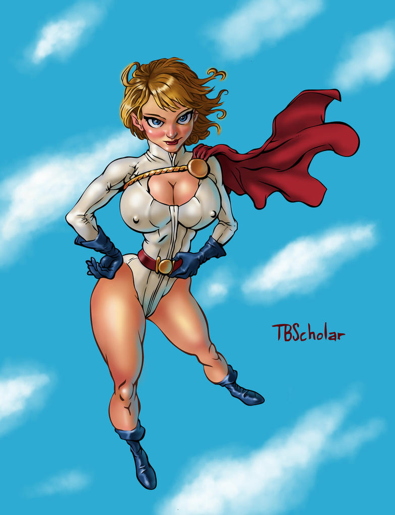 Power Girl Colored by TijuanaBibleScholar